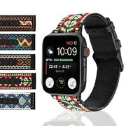 Traditional Apple Watch Band For 38mm 40mm 42mm 44mm Nylon Leather All Series