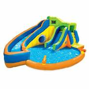 Banzai Pipeline Twist Kids Inflatable Water Pool Aqua Park And Slidesfor Parts