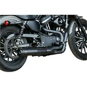 Sands Superstreet 2-into-1 Black Exhaust System For 07-13 Xl Sportster