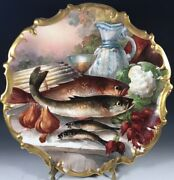 """15.5"""" Limoges France Charger Plaque Plate"""