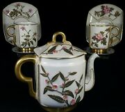 Antique Royal Worcester Japanese Aesthetic Teapot Cups Saucers Service English