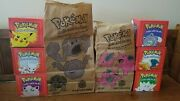Pokemon Lot 6 Limited Edition 23k Gold Plated Trading Card Orig.boxes/bags