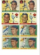 1955 Topps Autographed Collection 57 Signed Cards Sold As A Lot 9 A Piece