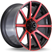 22x9.5 G-line G0036 Black And Red Custom Wheels 6x135 +20mm 87.1cb For F150s