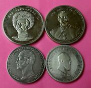 Collection Of 4 Russian Coins - Russian Tsars And Emperors 1859 - 1883 - 1917
