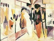 115025 August Macke Fashion Shop Porch Old Master Decor Laminated Poster Ca