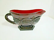 Vtg. Avon Nos Cape Cod Ruby Red 5 3/8 Footed Sauce Gravy Boat
