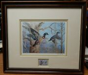 Ned Smith 1983 Pa Pennsylvania Duck Stamp Framed Print 2892/7380 Signed Lqqk