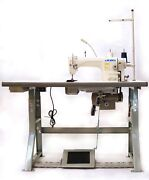 Juki Ddl-8700h Industrial Sewing Machine With Stand,servo Motor Andled Lamps Usa