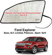 Side Window Front Seat Reflective Sunshade For 2011-2019 Ford Explorer 2 Pcs