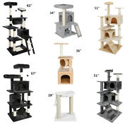 Multiple Sizes Cat Tree Condo Tower Furniture Scratch Post Tree Kitty Play House