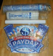Bpaa Pepsi Pins And Payday Bowling Sweepstakes Game Display Sign Poster Cup Lid