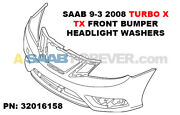 New Genuine Saab 9-3 Turbo X - Tx 2008 Front Bumper Cover W/ Hl Washers 32016158