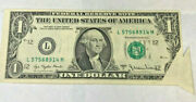 United States 1977 1 Dollar .butterfly Fold Error .. Aunc And Very Scarce