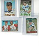 1967 Topps Signed Cards Autos 160 Cards 101 Different Players Signed 8.50/card