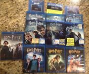 Harry Potter 7 Movie Blu-ray Bundl Blu Ray,13 Total Discsall Authentic Us