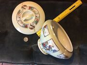 Royal Rochester Hand Painted Bowl - Golden Phesant - Fraunfelter China And Top