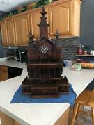 Amazing 34 Tall Wooden Mantle Cuckoo Style Church Temple Building Clock
