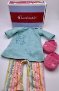 American Girl Retired Honey Puppy Pjs And Slippers And Charm Keeper Necklace