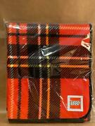 Lego Picnic Blanket Red Plaid Ground Cover Vip Exclusive New In Wrap 49 X 58