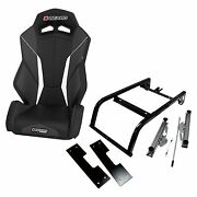 Beard V2 Torque Black Seat With Mount Kit For 2011-2018 Can-am Commander 1000