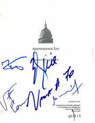 Will Smith Jeff Goldblum +3 Signed Autograph - Independence Day Movie Script