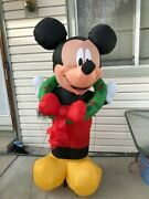 Mickey Mouse Christmas Inflatables Decorations - Blow Up Yard Art - Pre-owned