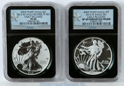 2013-w Silver Eagle West Point Set Ngc Pf69 And Sp69 Er In Classic Black Holder