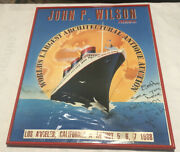 Poster 1988 - John P. Wilson Framed With Glass 24 1/2 X 19 1/2 In See Details