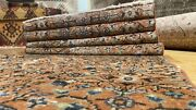 Exquisite Antique 1948and039s Wool Pile Muted Natural Dye Bunyan Area Runner 2x9ft