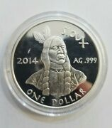 Oglala Sioux Pine Ridge Reservation- 1 Silver Coin 2014 Proof 1 Oz