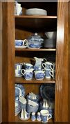 Liberty Blue Staffordshire Dinnerware - 155 Piece Service For 12 - Free Shipping