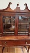 Antique Federal Period Cabinet Dated 1824 Likely Earlier China Display Curio