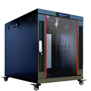 Server Rack Premium Cabinet 15u 35 Enclosure-wheels-thermosystem-lcd Screen