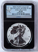 2013-w Silver Eagle West Point Ngc Pf69 Reverse Proof Early Release Black Slab