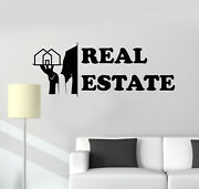 Vinyl Wall Decal Broker Realtor Real Estate Agency House Stickers Mural G2948