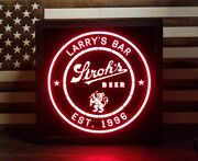 Custom Strohs Beer. Led Sign Personalized Home Bar Pub Sign Lighted Sign