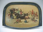 Antique Tin Litho Louis Wain Cat Childand039s High Chair Tray Old Woman In Shoe