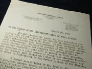 1918 Rare Letter, Anti-defamation League 1000's Jewish Boys In Us Army Wwi