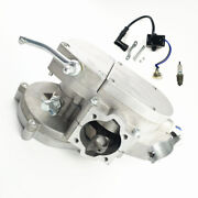 Bike Motor Bicycle Engine 2 Stroke 80cc Bottom Ends Silver Color With Cdi