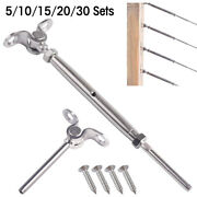 T316 Stainless Steel Cable Railing Kits Fit 3/16 Wire Rope Outdoor Stair Railin