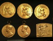 Collection 6 Belgian Award Medals, 1919/1929/1930 Cycling, Baking. Free Shipping