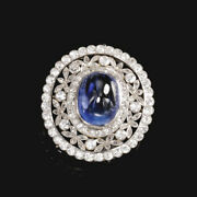 Christmas 2.40ct Natural Diamond Sapphire 14k Solid White Gold Cocktail Ring