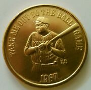 1967-gold Aluminum Babe Ruth Take Me Out To The Ball Park- Rare Mint Mardi Gra