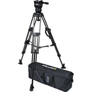 Miller Cx8 Head And 75 Sprinter Ii Carbon Fiber Tripod With Mid-level Spreader
