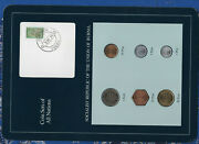 Coin Sets Of All Nations Burma W/card Unc 1966-1986 Unc Scarce Set