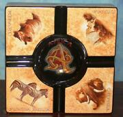 Don Lino Afrika Africa Cigar Table Ashtray Gold And Black Great 4 Gifts New