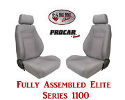 Procar Full Bucket Seats 80-1100-62 Elite 1100 Series For 1989 - 95 Ford Bronco