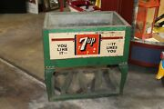 1930s Sands 7up Soda Unrestored Ice Chest Cooler