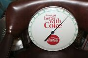 1960s Coca-cola Things Go Better With Coke White Thermometer